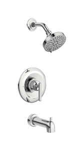 Moen  Gibson  1 Lever  Tub and Shower Faucet  Chrome  Metal