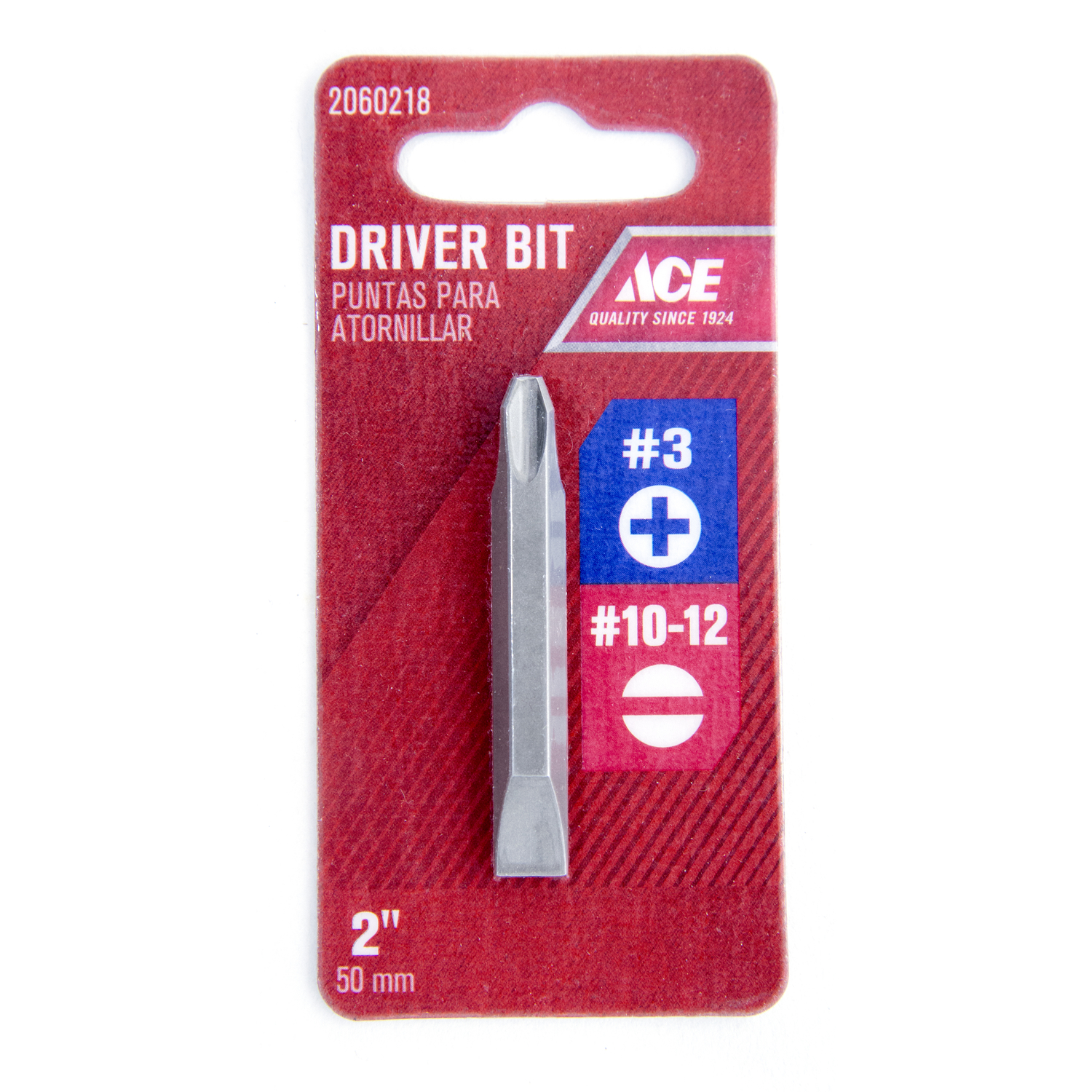 Ace  Phillips/Slotted  #3/#10-12 in.  x 2 in. L S2 Tool Steel  Hex Shank  Double-Ended Screwdriver B