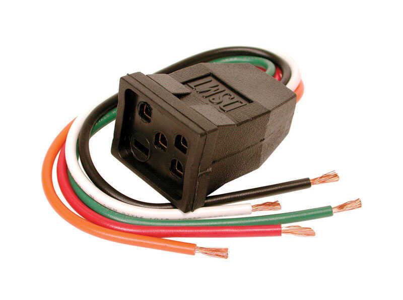 Dial  1-1/2 in. H x 5-1/2 in. W Muticolored  Motor Receptacle