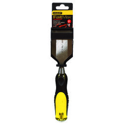 Stanley  FatMax Thru-Tang  2 in. W Steel  Wood Chisel  Black/Yellow  1 pc.