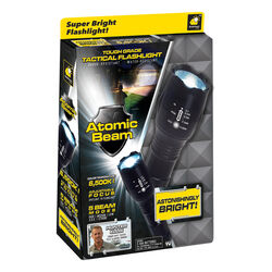 Atomic Beam  1200 lumens Black  LED  Flashlight  AAA Battery