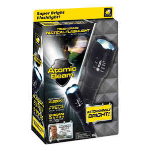 Atomic Beam USA  Telebrands  1200 lumens Black  LED  Flashlight  AAA Battery