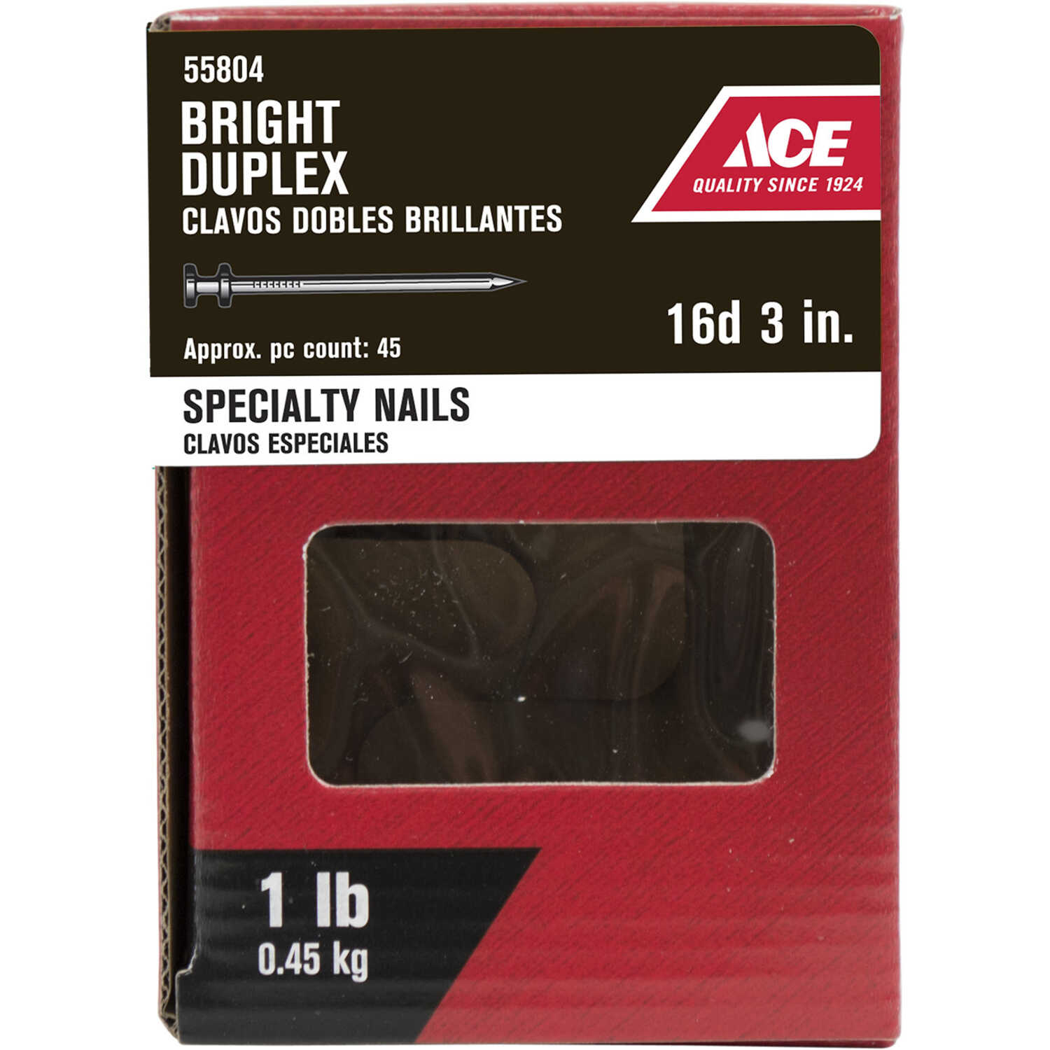 Ace  16D  3 in. L Duplex  Steel  Nail  Double  Thin Shank  1  1 lb.