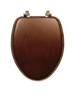 Mayfair  Elongated  Walnut  Wood  Toilet Seat