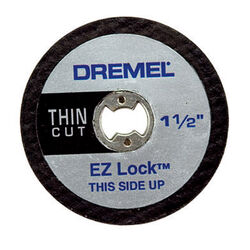 Dremel EZ Lock 1-1/2 in. Dia. x 1/8 in. in. Aluminum Oxide Metal Cut-Off Wheel 5 pc.
