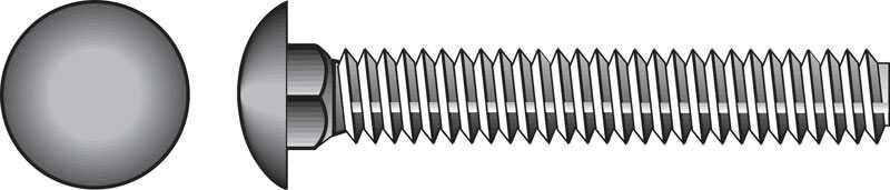 HILLMAN  1/2  Dia. x 12 in. L Zinc-Plated  Steel  Carriage Bolt  25 pk
