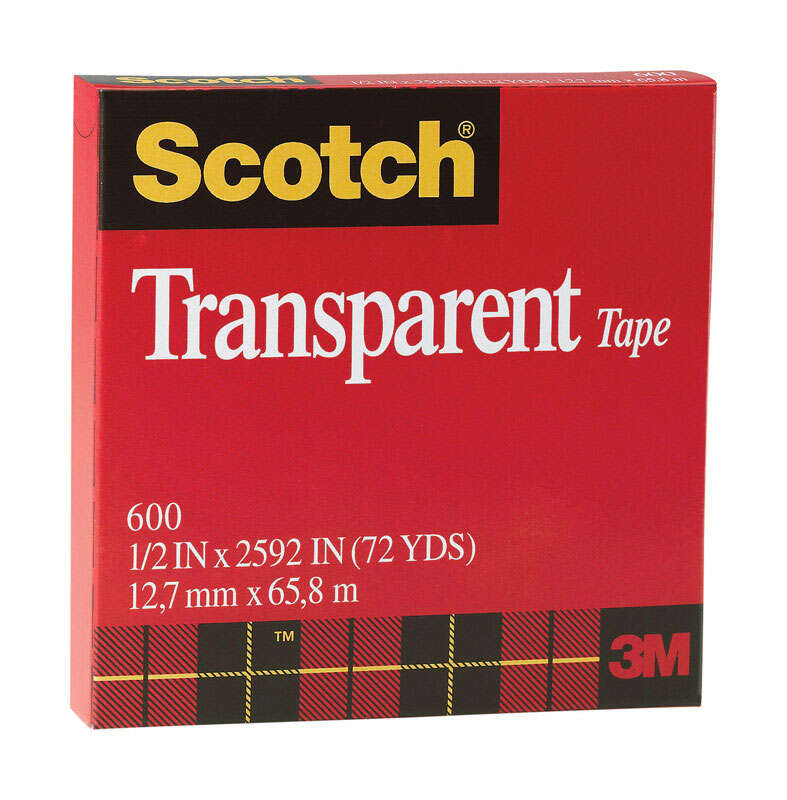 Scotch  1/2 in. W x 2592 in. L Tape  Clear