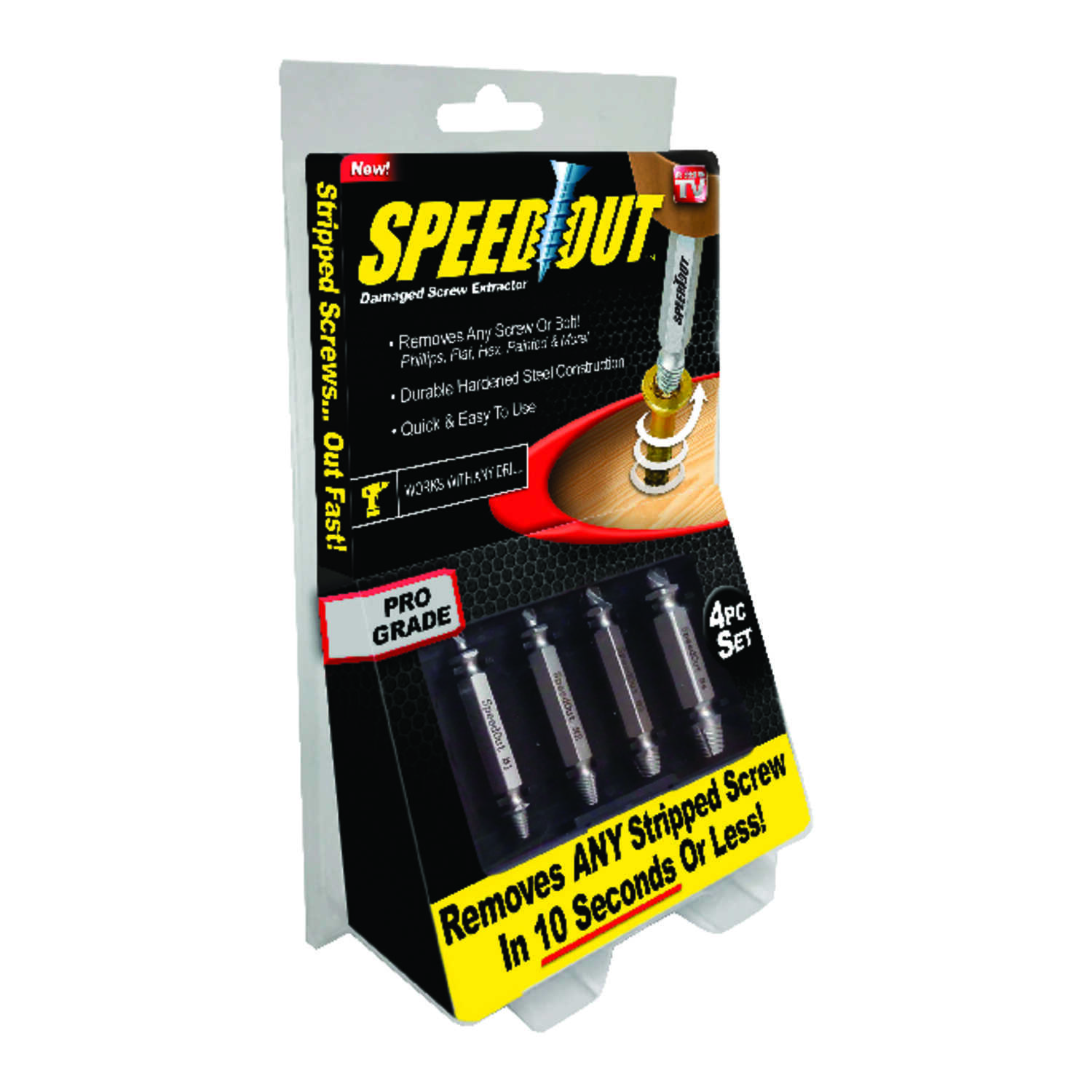 SpeedOut  Pro Grade  Multi Size   Steel  Screw Extractor  4 pc.