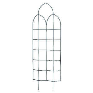 Panacea  72 in. H Black  Steel  Trellis