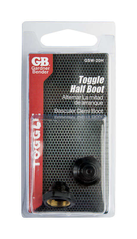 Gardner Bender  Half-Boot Toggle  Switch  Black  2 pk