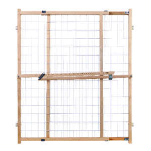North States  Gray  32 in. H x 29-1/2-50 in. W Wood  Wire Mesh Gate