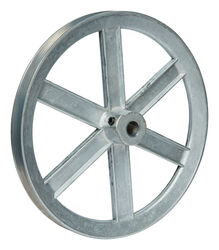 Chicago Die Cast  8 in. Dia. Zinc  Single V Grooved Pulley