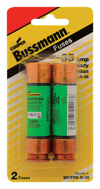 Bussmann 35 amps Dual Element Time Delay Fuse 2 pk