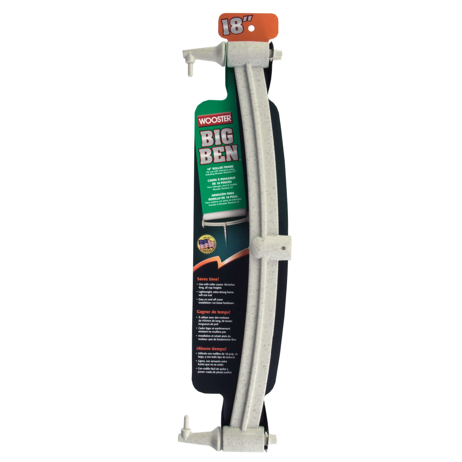 Wooster Big Ben 18 in. W Extension Pole Paint Roller Frame Threaded End
