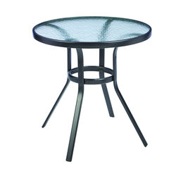 Living Accents Fairview Round Black Glass Bistro Table