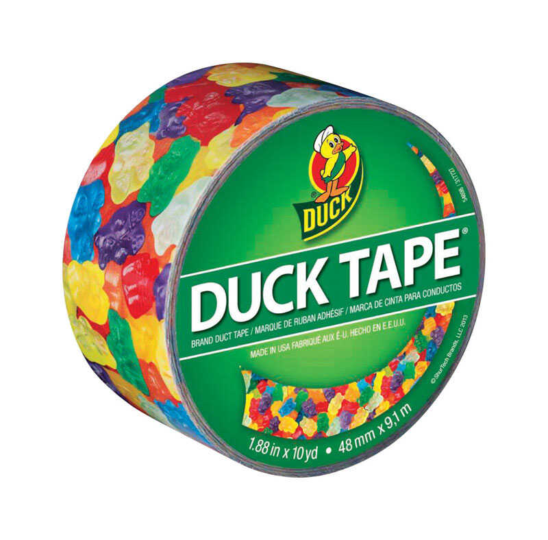 Duck Brand  30 ft. L x 1.88 in. W Multicolored  Duct Tape  Gummy Bears