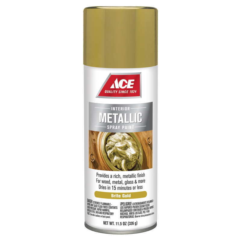 Ace  Brilliant  Spray Paint  11.5 oz. Bright Gold