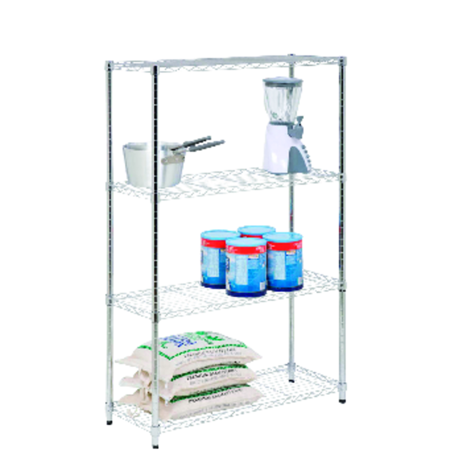 Honey Can Do  36 in. W x 14 in. D x 54 in. H Steel  Shelving Unit
