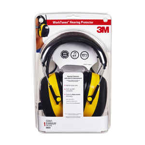 3M  24 dB Reusable  PVC  Digital Hearing Protector with AM/FM Radio  Black  1 pair