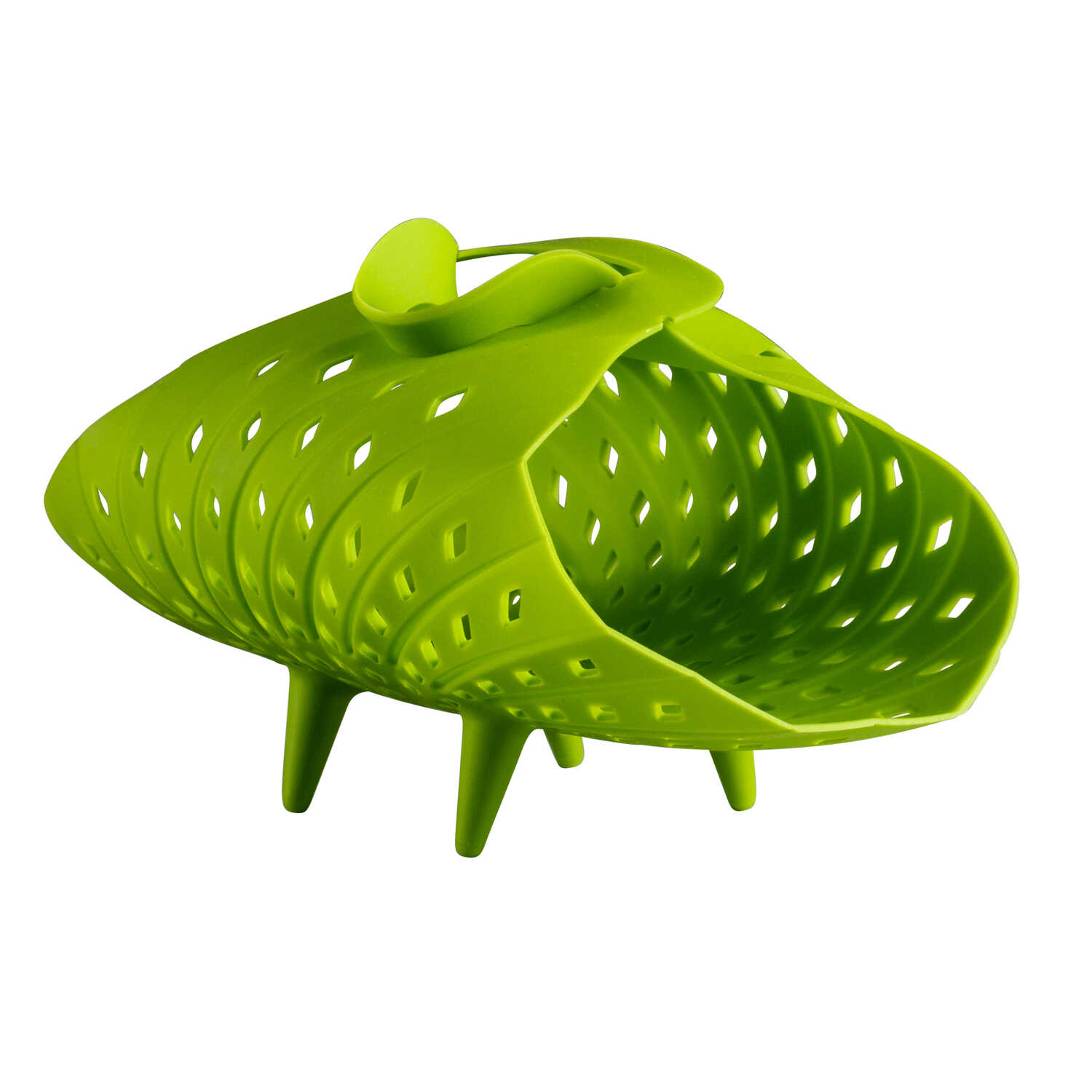 Chef'n  Veggisteam  5-5/16 in. W x 10 in. L Green  Vegetable Steamer