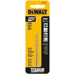 DeWalt  7/64 in.  x 2-5/8 in. L High Speed Steel  Split Point  Drill Bit  2 pc.