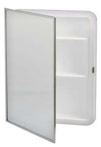 Zenith Metal Products  16 in. W x 4-3/4 in. D x 20 in. H Rectangle  Medicine Cabinet