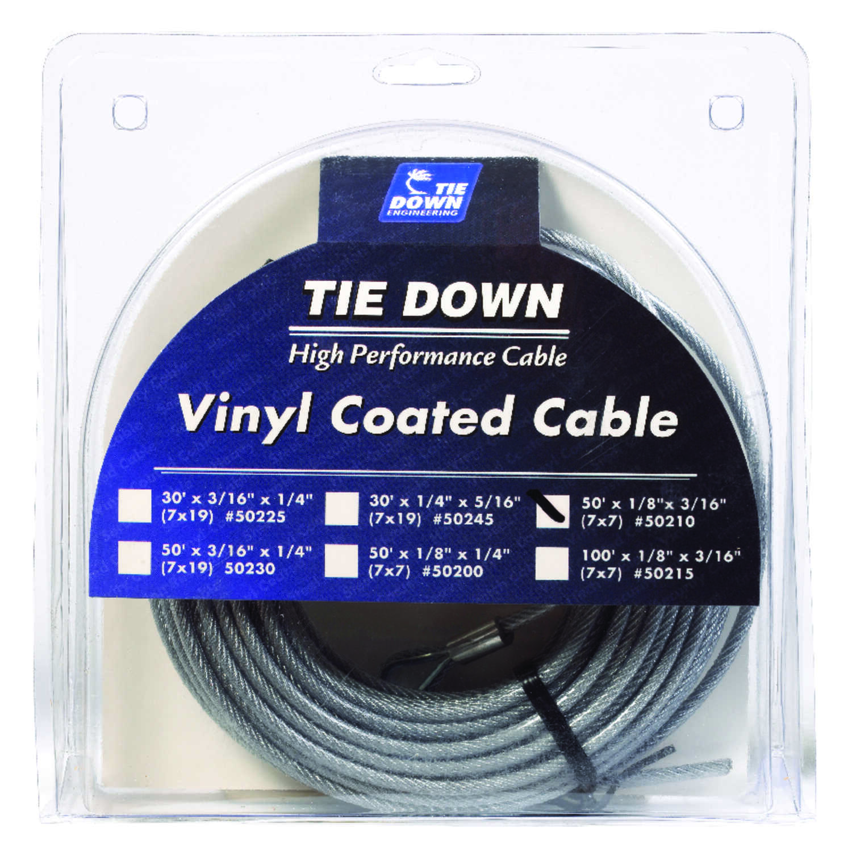 Tie Down Engineering Vinyl Coated Galvanized Steel 1/8 in. Dia. x 50 ...