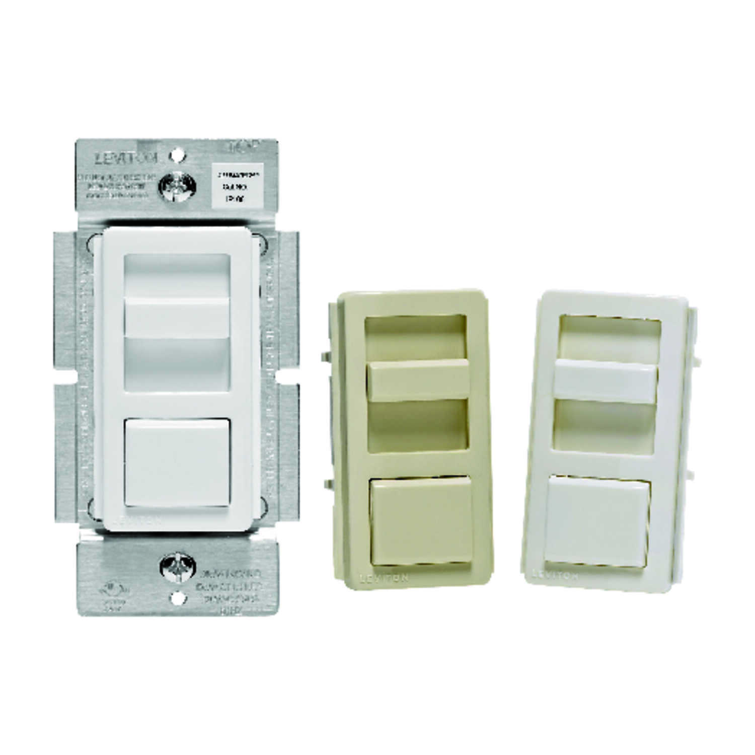 Leviton  IllumaTech  Multicolored  150 watts Slide  Dimmer Switch  1 pk