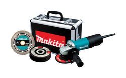 Makita Corded 120 volt 7.5 amps 4-1/2 in. Cut-Off/Angle Grinder Kit 11000 rpm