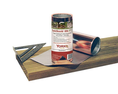 York  106 PT  16 in. W x 240 in. L Copper  Flashing  Copper