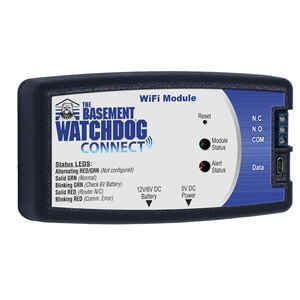 Basement Watchdog  2-3/4 in  H x 5 in  W x 1-1/4 in  L WiFi Module