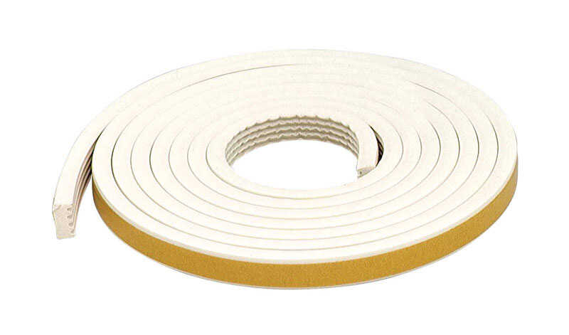 M-D Building Products  White  Rubber  Weather Stripping  For Window 10 ft. L x 5/16 in.