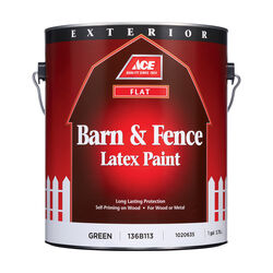 Ace Flat Green Barn and Fence Paint Exterior 1 gal.