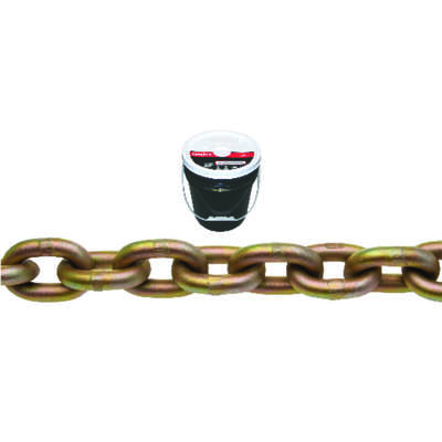 Campbell Chain  3/8 in. Oval Link  Carbon Steel  Transport Chain  3/8 in. Dia. x 75 ft. L