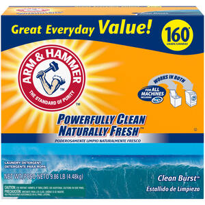 Arm & Hammer  Naturally Fresh  Clean Burst Scent Laundry Detergent  Powder  9.86 lb.