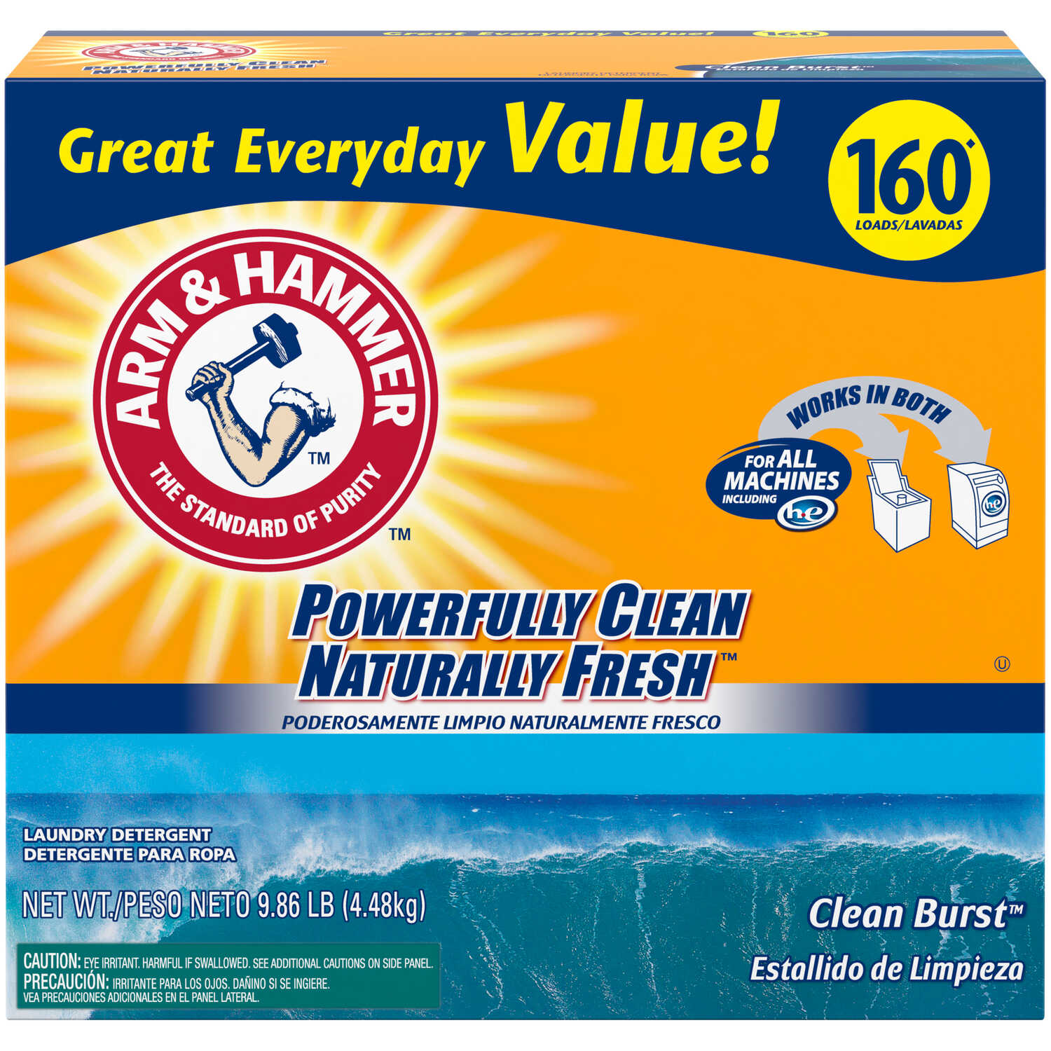 Arm & Hammer  Clean Burst Scent Laundry Detergent  Powder  9.86 lb.