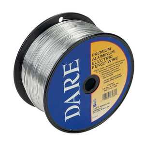 Dare Products  Electric-Powered  Electric Fence Wire  Silver  1320 ft