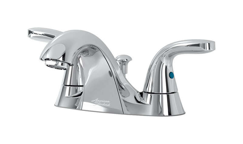 American Standard  Cadet  Cadet  Chrome  Two Handle  Lavatory Faucet  4 in.