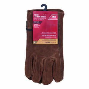 Ace  XL  Suede Cowhide  Driver  Brown  Gloves