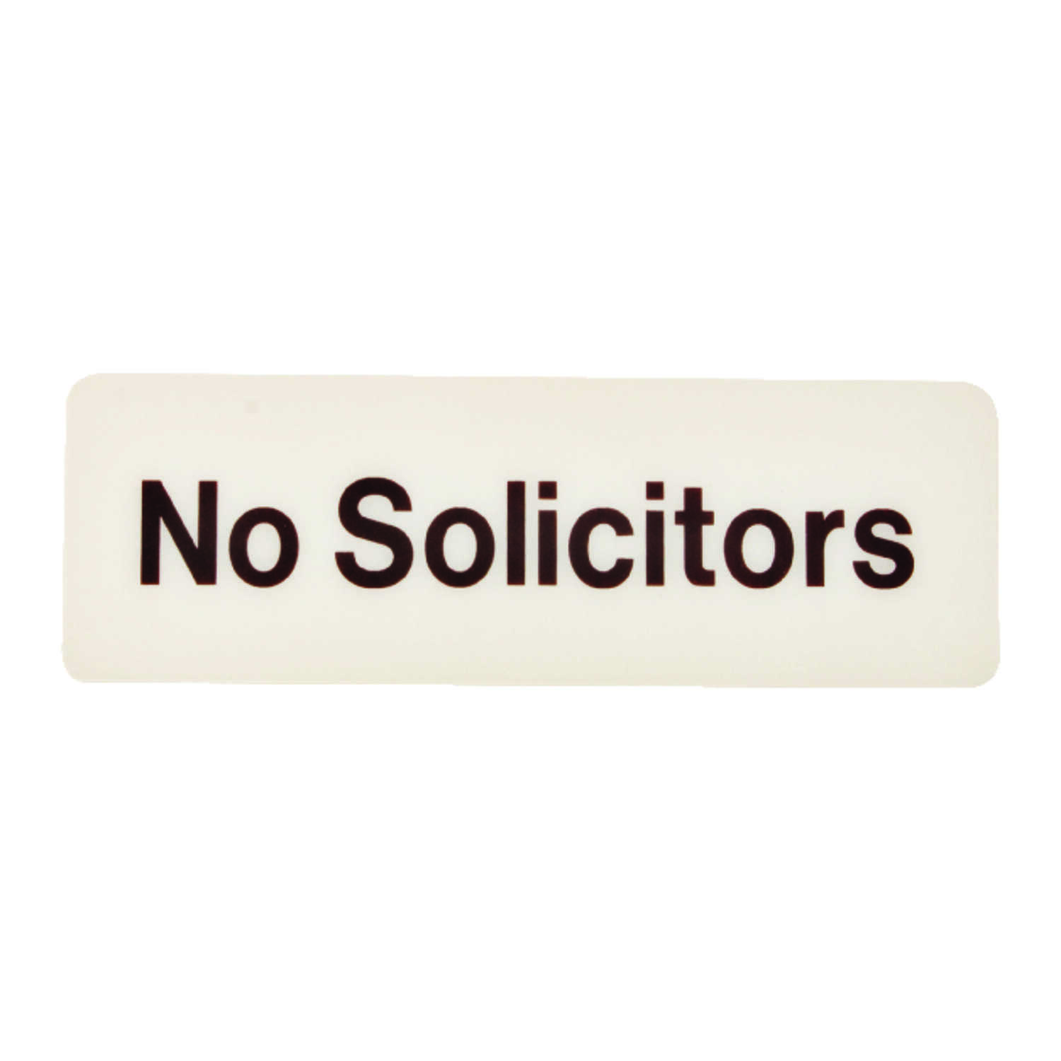 Hy-Ko  English  3 in. H x 9 in. W Sign  Plastic  No Solicitors