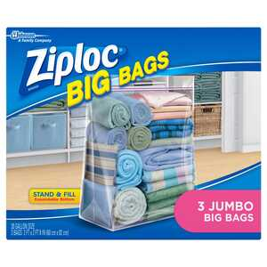 Ziploc  Big Bags  24-11/16 in. H x 24 in. D x 24-8 in. W Waterproof Storage Case