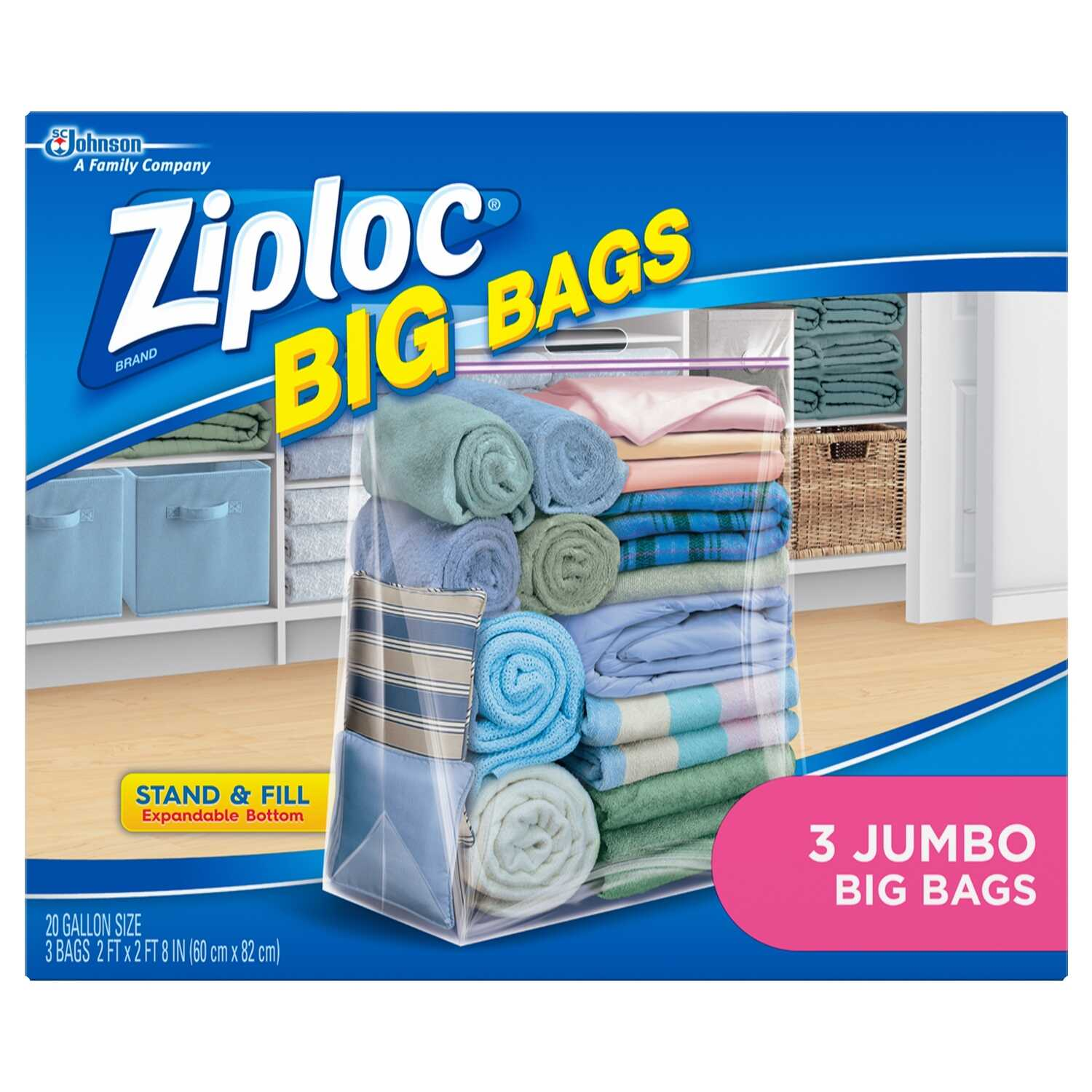 Ziploc  Big Bags  32.4 in. H x 24 in. W x 24 in. D Storage Bag
