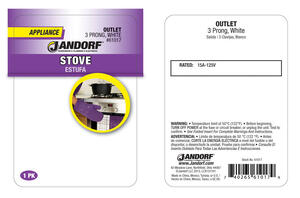 Jandorf  15 amps 125 volt White  Outlet  1 pk