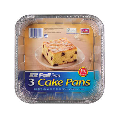 Hefty  EZ Foil  8 in. W x 8 in. L Cake Pan  3