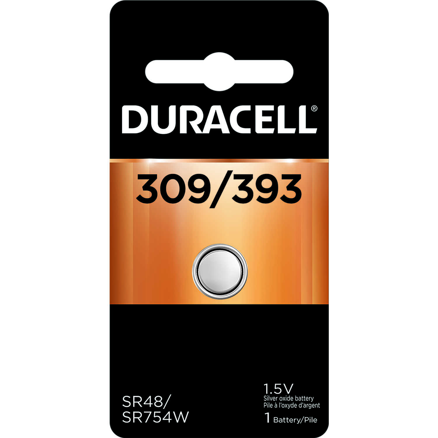Duracell  Silver Oxide  309/393  1.5 volt Electronic/Watch Battery  1 pk