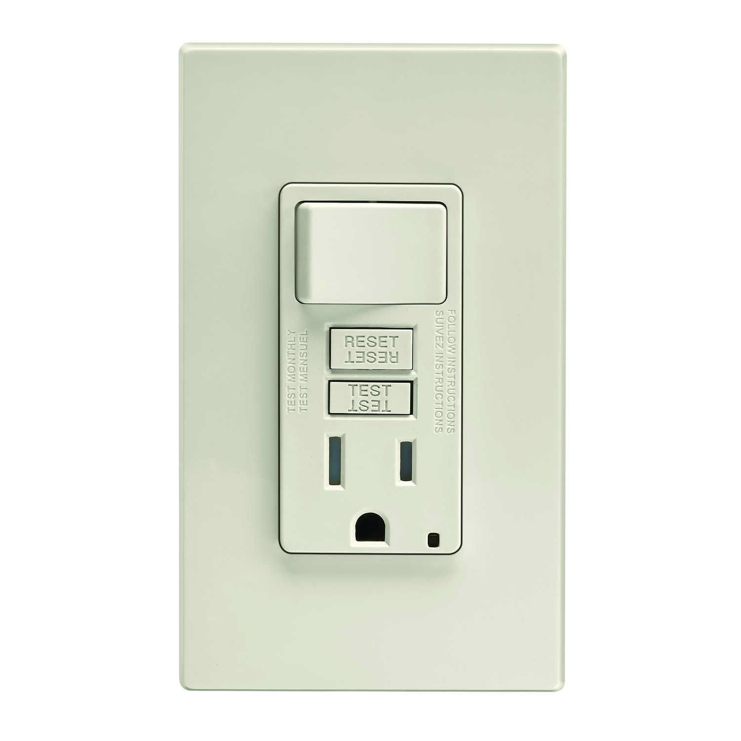 Leviton 15 Amps 125 Volt Light Almond Gfci Outlet 5 15r 1 Pk Ace