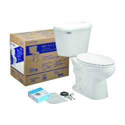 Mansfield  Pro-Fit 2  1.6 gal. White  Elongated  Complete Toilet Kit