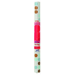 Con-Tact Brand Creative Covering 9 ft. L x 18 in. W Blue/Brown Polka Dots Self-Adhesive Shelf