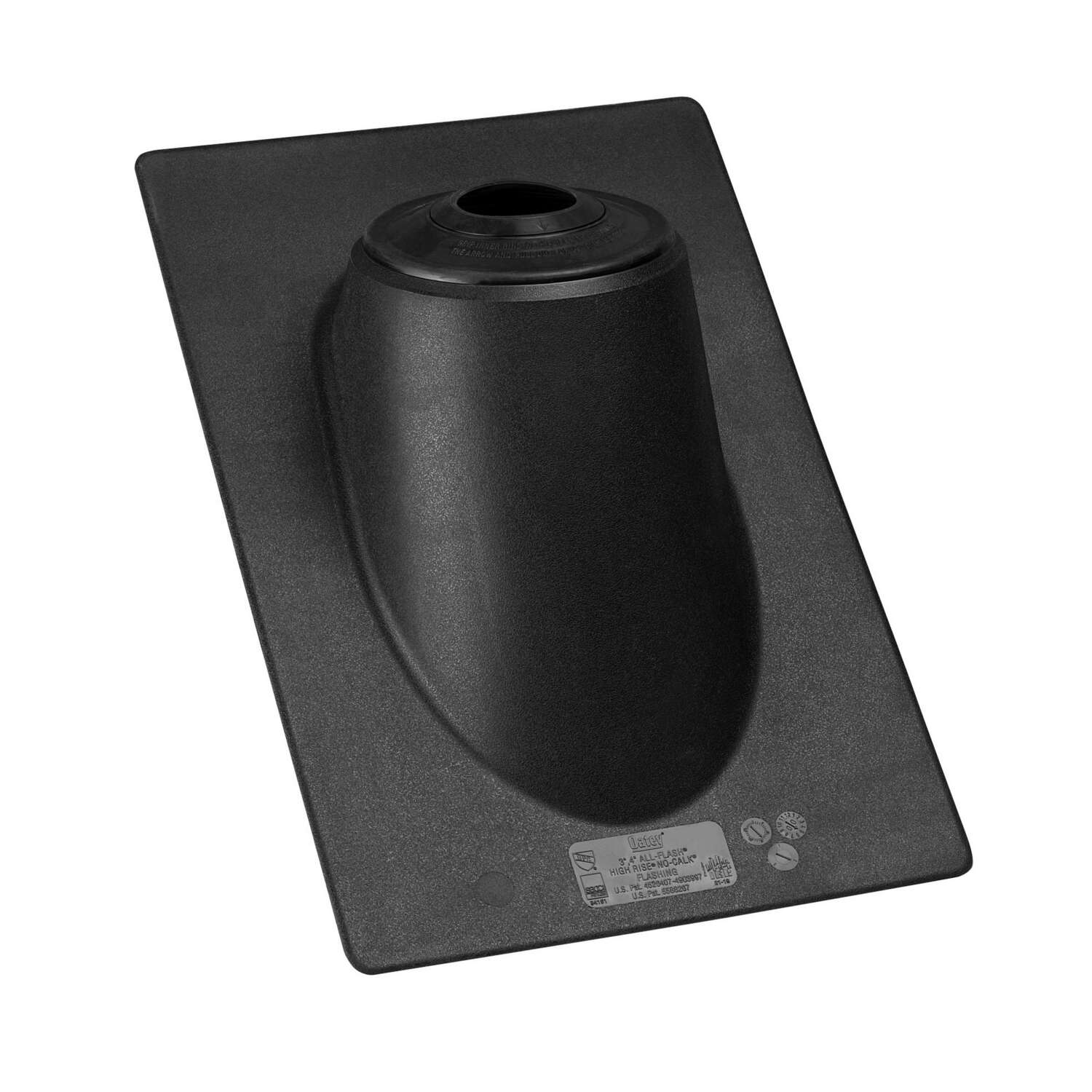 Oatey  High-Rise  3 in. H x 13 in. W x 20 in. L Black  Rectangle  Roof Flashing  Plastic