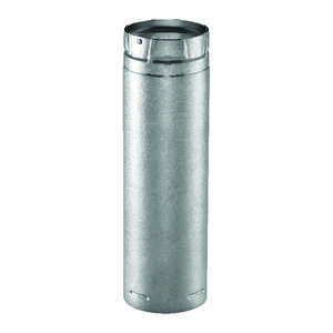 Duravent  4 in. Dia. x 36 in. L Galvanized Steel  Double Wall Stove Pipe